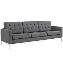 Loft Upholstered Fabric Sofa, Grey, Fabric 10120