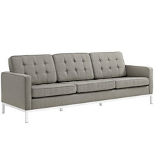 Loft Upholstered Fabric Sofa, Grey, Fabric 10121