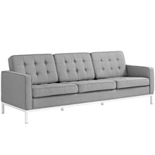 Loft Upholstered Fabric Sofa, Grey, Fabric 10122