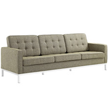 Loft Upholstered Fabric Sofa, Grey, Fabric 10123
