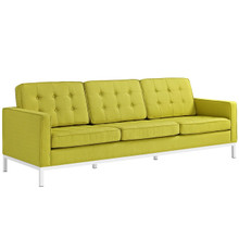 Loft Upholstered Fabric Sofa, Green, Fabric 10124