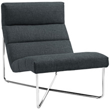 Reach Upholstered Lounge Chair, Grey, Fabric 10153
