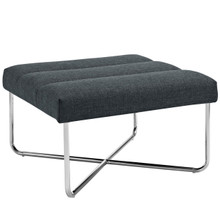 Reach Upholstered Ottoman, Grey, Fabric 10156