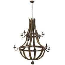 Trebuchet Chandelier, Brown, Metal 10180