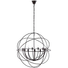 "Atom 39.5"" Chandelier, Brown, Metal 10182"