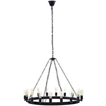 "Teleport 43"" Chandelier, Brown, Metal 10187"