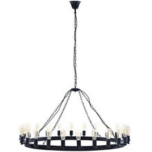 "Teleport 52"" Chandelier, Brown, Metal 10188"