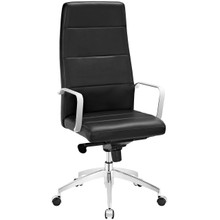 Stride Highback Office Chair, Black, Faux Leather 10194