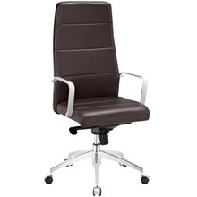Stride Highback Office Chair, Brown, Faux Leather 10195
