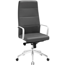 Stride Highback Office Chair, Grey, Faux Leather 10196
