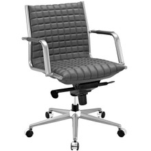 Pattern Office Chair, Grey, Faux Leather 10208