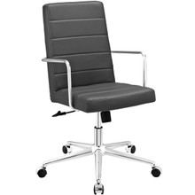 Cavalier Highback Office Chair, Grey, Faux Leather 10212