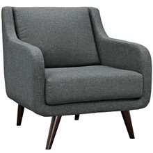 Verve Upholstered Armchair, Grey, Fabric 10228
