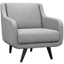 Verve Upholstered Armchair, Grey, Fabric 10230