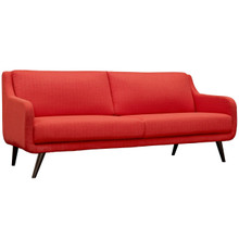 Verve Upholstered Sofa, Red, Fabric 10231