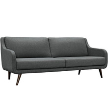 Verve Upholstered Sofa, Grey, Fabric 10233