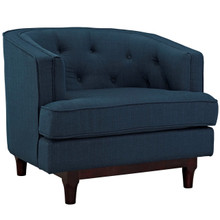 Coast Upholstered Armchair, Navy, Fabric 10236
