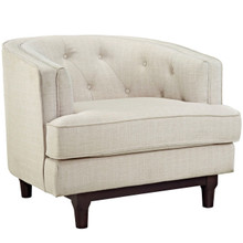 Coast Upholstered Armchair, Beige, Fabric 10237