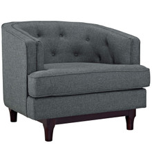 Coast Upholstered Armchair, Grey, Fabric 10238
