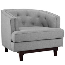 Coast Upholstered Armchair, Grey, Fabric 10239