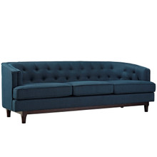 Coast Upholstered Sofa, Navy, Fabric 10240