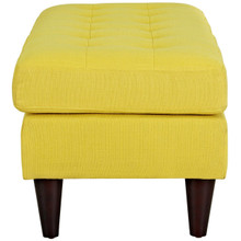 Empress Upholstered Fabric Bench, Yellow, Fabric 10286