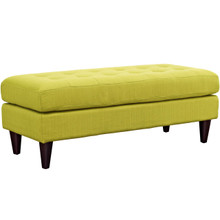 Empress Upholstered Fabric Bench, Green, Fabric 10287