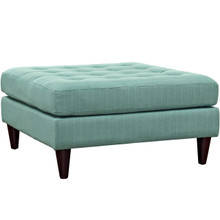 Empress Upholstered Large Ottoman, Blue, Fabric 10292