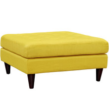 Empress Upholstered Large Ottoman, Yellow, Fabric 10295