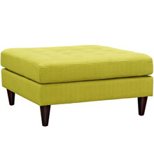 Empress Upholstered Large Ottoman, Green, Fabric 10296