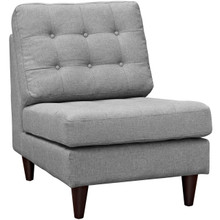 Empress Upholstered Lounge Chair, Grey, Fabric 10299