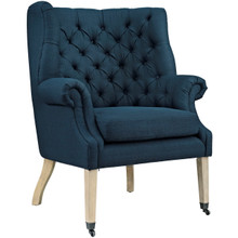 Chart Upholstered Fabric Lounge Chair, Navy, Fabric 10318