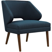 Dock Upholstered Fabric Armchair, Navy, Fabric 10332