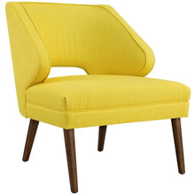 Dock Upholstered Fabric Armchair, Yellow, Fabric 10337