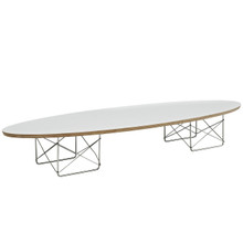 Surfboard Coffee Table in White
