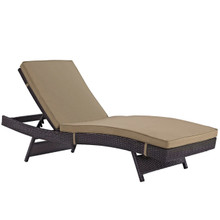Convene Outdoor Patio Chaise, Brown, Rattan 10507