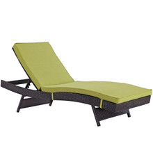 Convene Outdoor Patio Chaise, Green, Rattan 10509