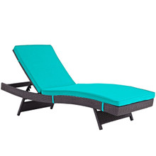 Convene Outdoor Patio Chaise, Blue, Rattan 10511