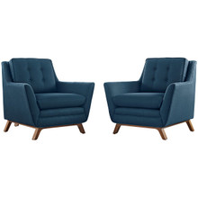 Beguile Armchair ( Set of Two), Navy, Fabric 10528