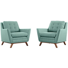 Beguile Armchair ( Set of Two), Blue, Fabric 10531