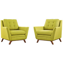 Beguile Armchair ( Set of Two), Green, Fabric 10533
