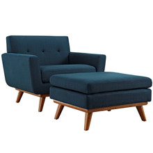 Engage Armchair and Ottoman, Navy, Fabric 10540