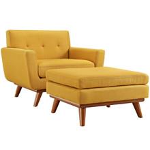 Engage Armchair and Ottoman, Orange, Fabric 10541