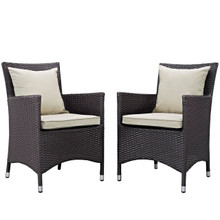 Convene Dining Chair ( Set of Two), Beige, Rattan 10549