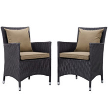 Convene Dining Chair ( Set of Two), Brown, Rattan 10550