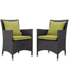 Convene Dining Chair ( Set of Two), Green, Rattan 10552