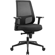 Pump Office Chair, Black, Fabric 10682