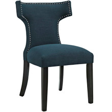 Curve Fabric Dining Chair, Navy, Fabric 10707