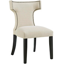 Curve Fabric Dining Chair, Beige, Fabric 10708