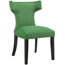 Curve Fabric Dining Chair, Green, Fabric 10711